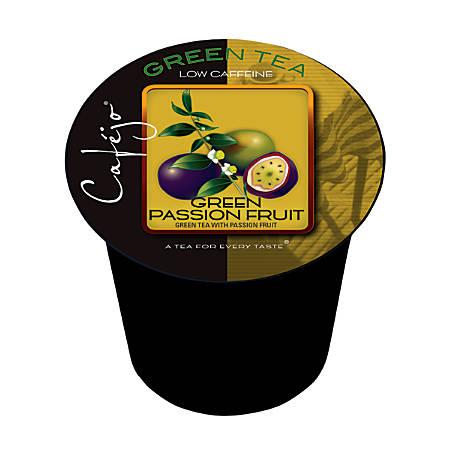 Cafejo Single-Serve Tea Cups, Green Passion Fruit, 0.4 Oz, Pack Of 24