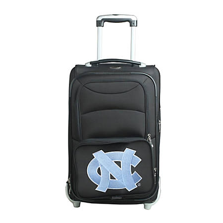 "Denco Sports Luggage NCAA Expandable Rolling Carry-On, 20 1/2"" x 12 1/2"" x 8"", North Carolina Tar Heels, Black"