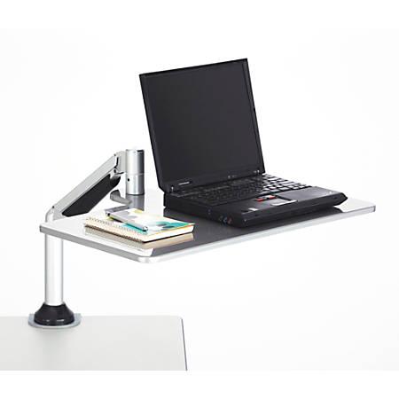 Safco® Desktop Sit/Stand Laptop Workstation, Silver