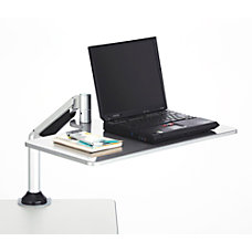 Safco Desktop SitStand Laptop Workstation Silver