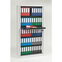Bisley Steel Polypropylene Premium Binder Storage Tambour Cabinet 78 H Light Gray