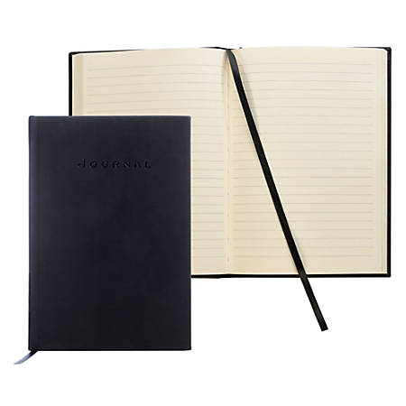 "FORAY® Hardcover Journal, 5 1/2"" x 8"", Black"