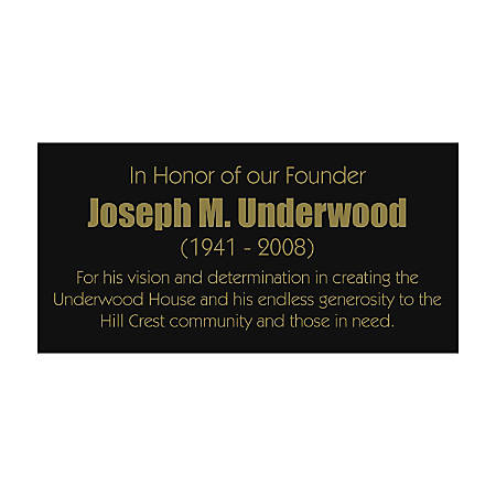 """Engraved Brass Sign, 3"""" x 6"""""""