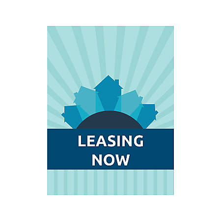 Plastic Sign, Leasing Now B Houses, Vertical