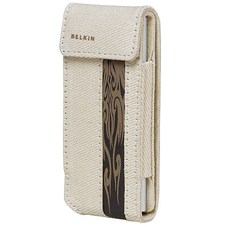 Belkin Canvas Flip Case for iPod nano 2G - Canvas - Brown, Taupe