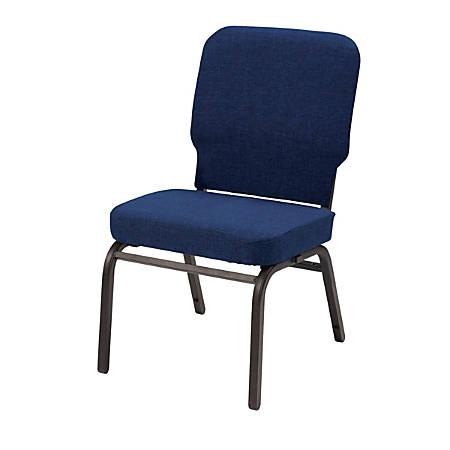 KFI Studios Big And Tall Armless Stacking Chair, Navy/Black