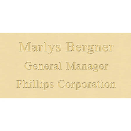 """Engraved Brass Sign, 4"""" x 8"""""""