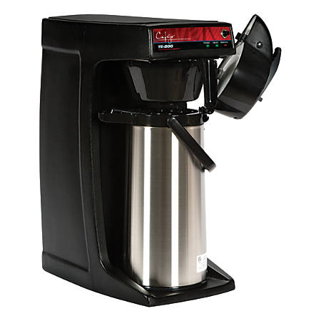 Cafejo TE-220 14-Cup Automatic Coffee Brewer, Black