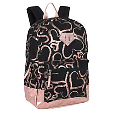 Metallic Hearts Backpack Black