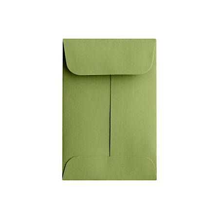 "LUX Coin Envelopes With Moisture Closure, #1, 2 1/4"" x 3 1/2"", Avocado Green, Pack Of 50"