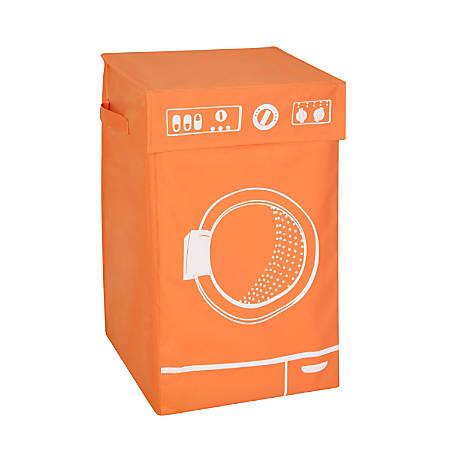 "Honey-Can-Do Square Hamper With Lid, 23 1/2"" x 14"" x 14"", Orange"