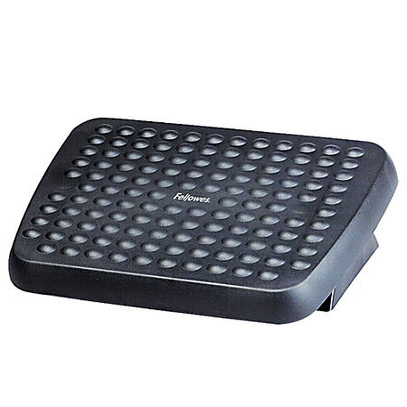 "Fellowes® Standard Footrest, 3 3/4""H x 17 5/8""W x 13 1/8""D, Graphite"