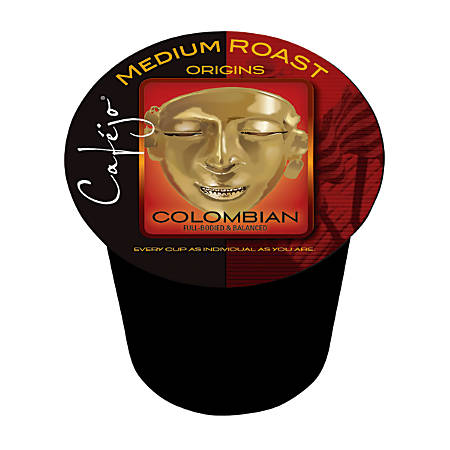 Cafejo Colombian Coffee Single-Serve Cups, 0.37 Oz, Pack Of 50
