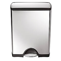 simplehuman Rectangular Step Trash Can 13