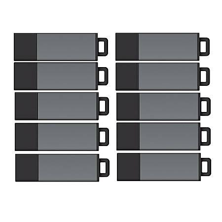 Centon DataStick Pro USB 2.0 Flash Drives, 4GB, Pro Gray, Pack Of 25 Flash Drives, S1-U2P1-4G25PK
