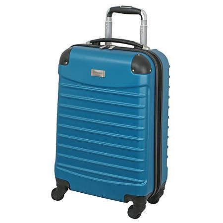 "Overland Geoffrey Beene Hardside Vertical Luggage Case, 20""H x 9""W x 13-1/2""D, Teal"