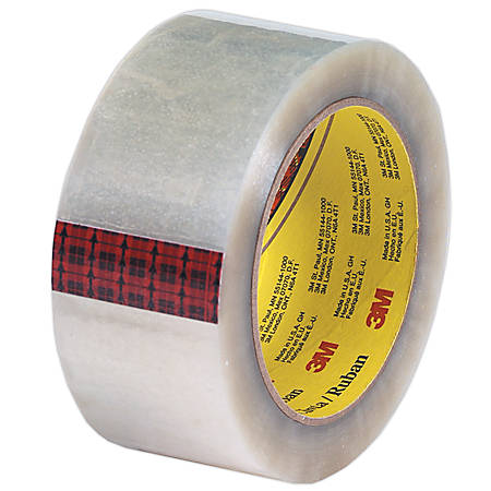 "3M® 313 Carton Sealing Tape, 2"" x 110 Yd., Clear, Case Of 36"