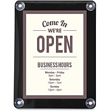 deflecto Double sided Window Display Sign