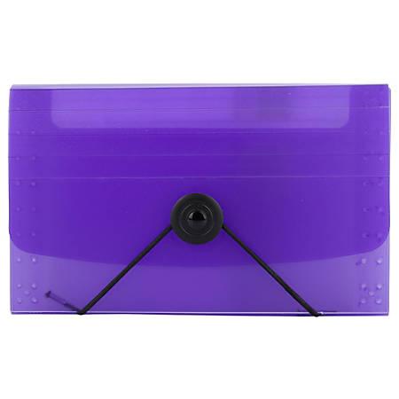 """JAM Paper® Coupon Size Expanding File, 3"""" Expansion, 4"""" x 6"""", Purple"""