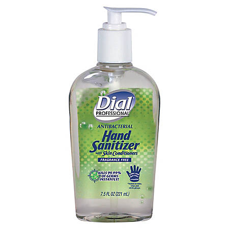 Dial Hand Sanitizer, 7.5 Oz, Clear