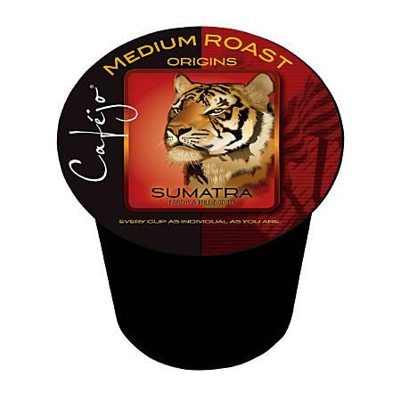 Cafejo Sumatra Single-Serve Cups, 0.5 Oz, Pack Of 50