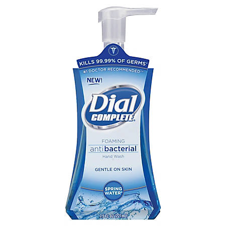 Dial Complete Foaming Antibacterial Hand Soap, Springwater Scent, 7.5 Oz, Blue