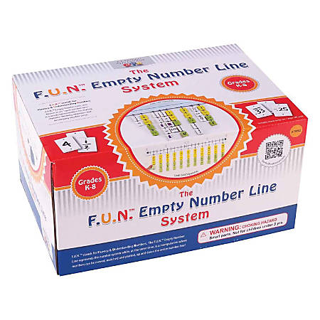 "Learning Advantage F.U.N.™ Empty Number Line System, 6"" x 80"", Assorted Colors"