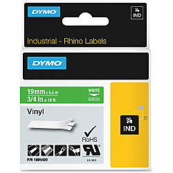 DYMO Colored 34 Vinyl Label Tape