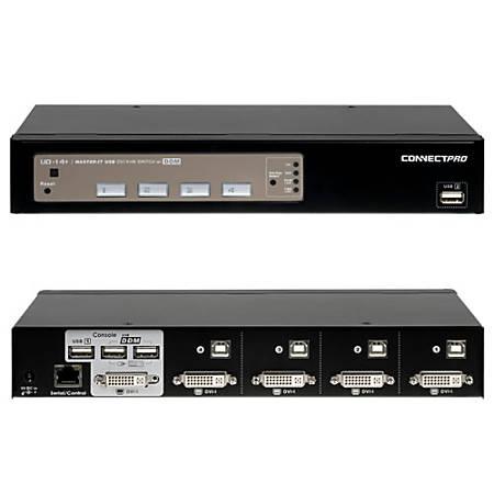Connectpro UD-14+KIT 4-port DVI KVM with Cables