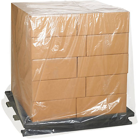 """Office Depot® Brand 2-Mil Pallet Covers, 46"""" x 36"""" x 65"""", Case Of 100"""