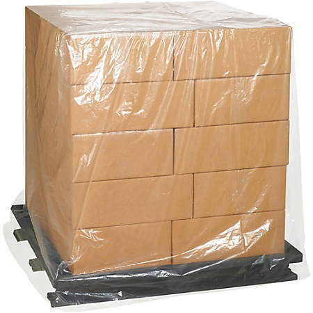 "Office Depot® Brand 3-Mil Pallet Covers, 51"" x 49"" x 73"", Clear, Case Of 50"