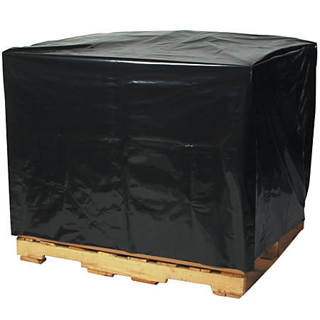 "Office Depot® Brand 3-Mil Pallet Covers, 51"" x 49"" x 85"", Black, Case Of 50"