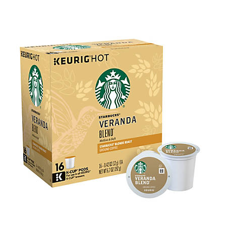 Starbucks Pods Veranda Blend Coffee K Cup 0.48 Oz Box Of 16 - Office Depot