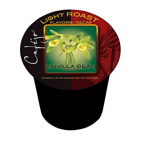 Cafejo® Vanilla Bean Decaffeinated Single-Serve Cups, 0.37 Oz, Box Of 50