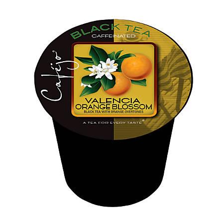 Cafejo Single-Serve Tea Cups, Valencia Orange Blossom, 0.4 Oz, Pack Of 50
