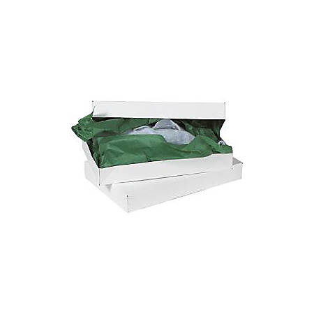 """Partners Brand White Apparel Boxes 19"""" x 12"""" x 3"""", Case of 50"""