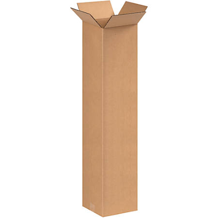 "Office Depot® Brand Tall Corrugated Boxes, 36""H x 9""W x 9""D, Kraft, Bundle Of 25"