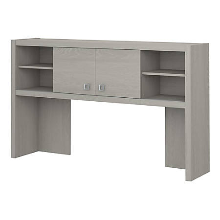 "kathy ireland® Office by Bush Business Furniture Echo Hutch, 60""W, Gray Sand, Premium Installation"