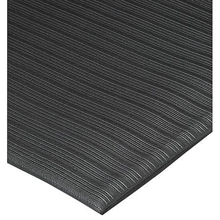 Genuine Joe Air Step Anti-Fatigue Mat, 3' x 5', Black