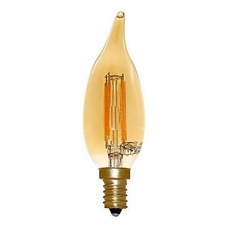 Euri BA10 Amber Glass Dimmable 280 Lumens LED Filament Bulb, 4 Watt, 2,400 Kelvin