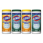 "Clorox Disinfecting Wipes, Fresh/Citrus Blend Scents, 7"" x 8"", 35 Wipes Per Canister, Pack Of 4 Canisters"