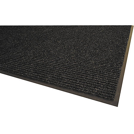Genuine Joe Golden Series Walk-Off Mat, 3' x 5', Charcoal