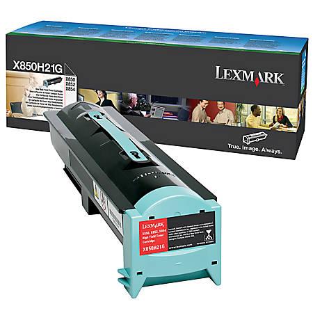 Lexmark™ X850H21G High-Yield Black Toner Cartridge