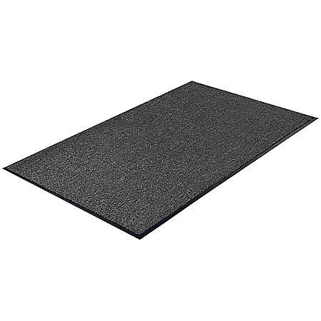 Genuine Joe Silver Series Walk-Off Indoor Mat, 3' x 5', Charcoal