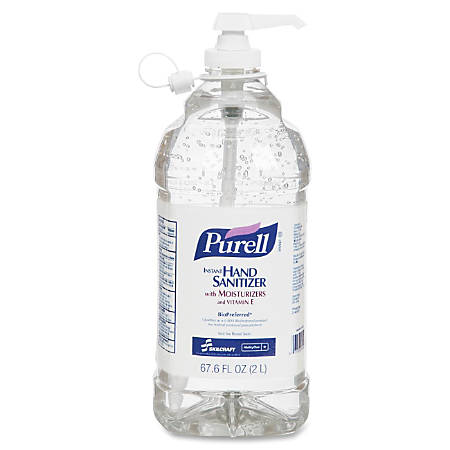 Gojo® Instant Hand Sanitizer, 2 Liter Bottle, Case Of 4 (AbilityOne 6508-01-579-3825)