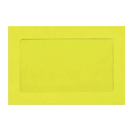 """LUX Full-Face Window Envelopes With Moisture Closure, #6 1/2, 6"""" x 9"""", Citrus, Pack Of 250"""