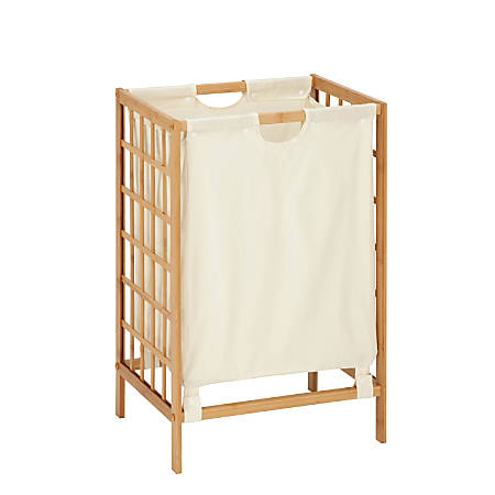 "Honey-Can-Do Knockdown Bamboo Hamper, 25 7/8"", Natural"