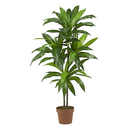 """Nearly Natural 43""""H Real-Touch Silk Dracaena Plant With Pot, Green"""