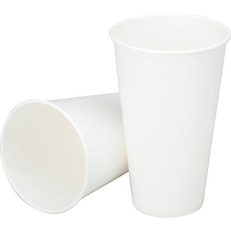 SKILCRAFT® Paper Hot Cups, 12 Oz, White, Box Of 1,000 (AbilityOne 7350-00-641-4517)