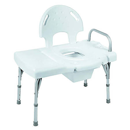 Invacare® I-Class™ Blow-Molded Transfer Bench With Built-In Commode